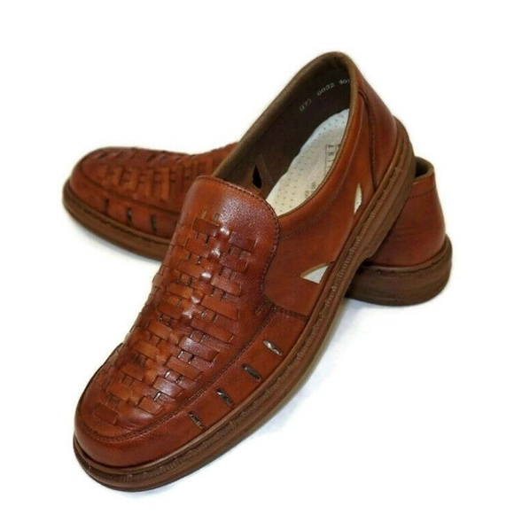 RIEKER Antistress 13 Brown Woven Leather Loafers